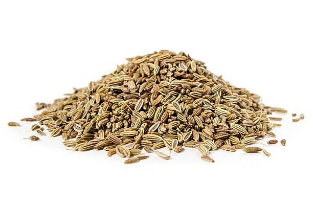 Dried Fennel Seeds isolated Dried Fennel Seeds, isolated on white background fennel stock pictures, royalty-free photos & images