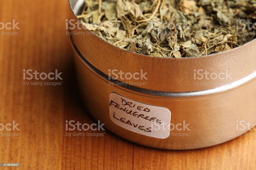 Dried Fenugreek Leaves stock photo