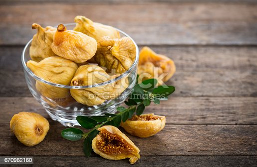 Dried figs in the bowl