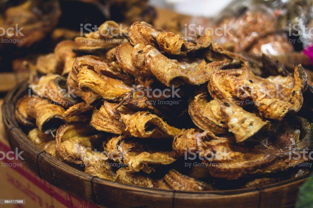 Getrockneter Fisch in den Frischmarkt In Asien – Foto