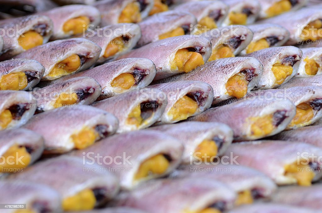 Dried fish. royalty-free stock photo