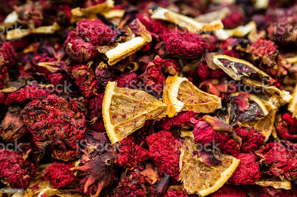 Store translator of dried flowers and spices in Grand Bazaar in...