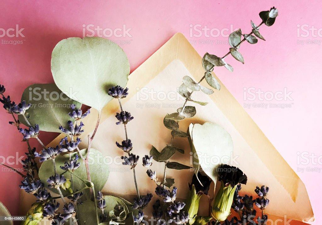 Dried Flowers in Old Envelope