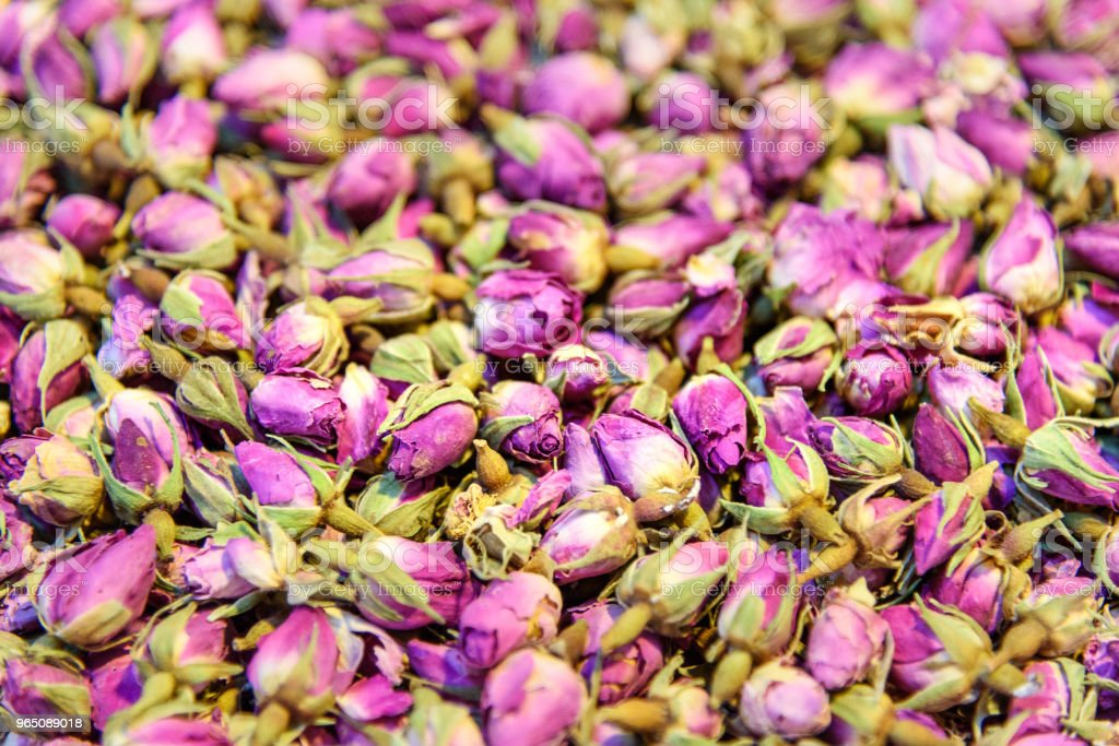 Dried flowers of roses. Herbs in Grand Bazaar in Tabriz. East Azerbaijan province. Iran royalty-free stock photo