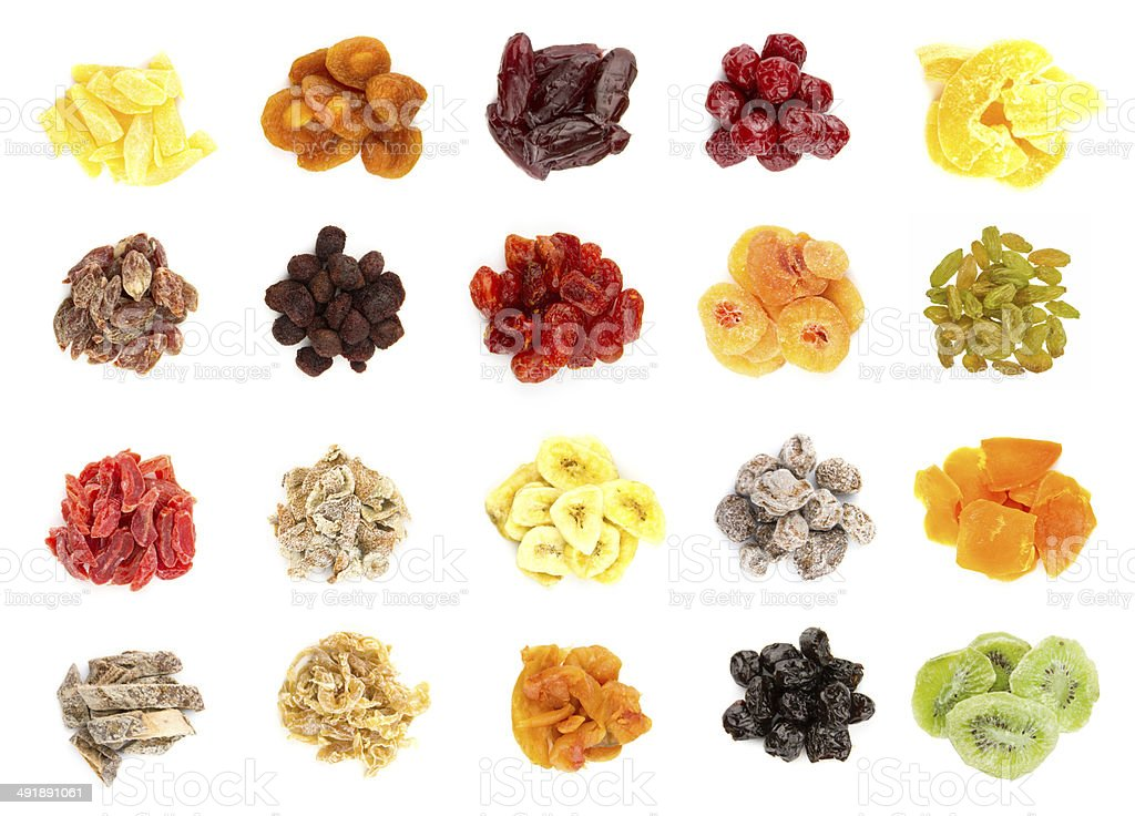 Dried fruit collection royalty-free stock photo