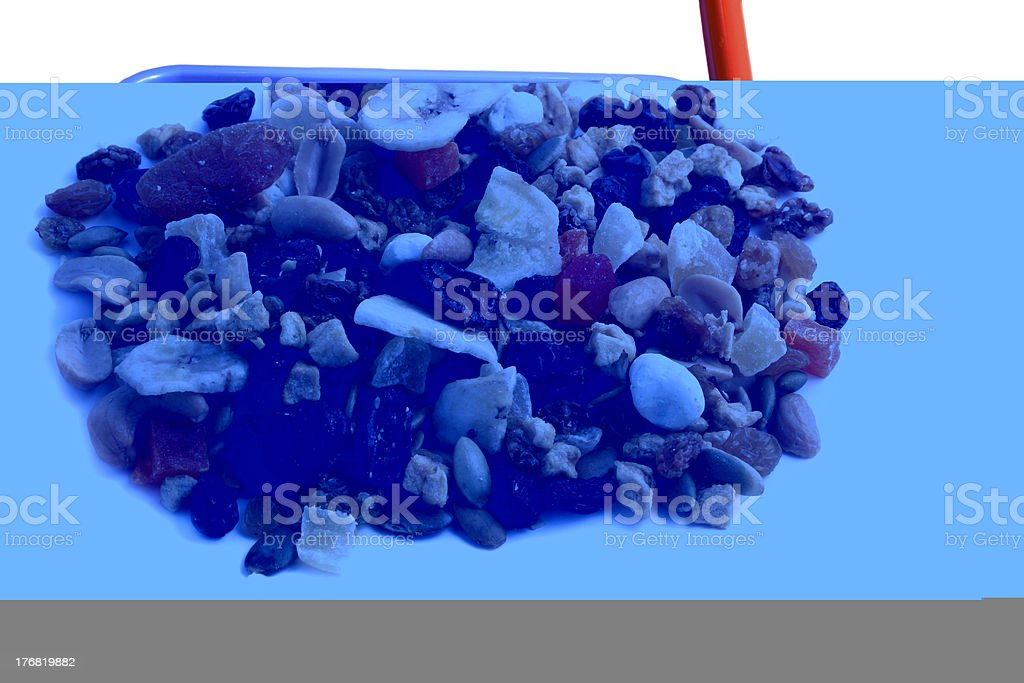 Dried fruit, nut and seed  mix royalty-free stock photo
