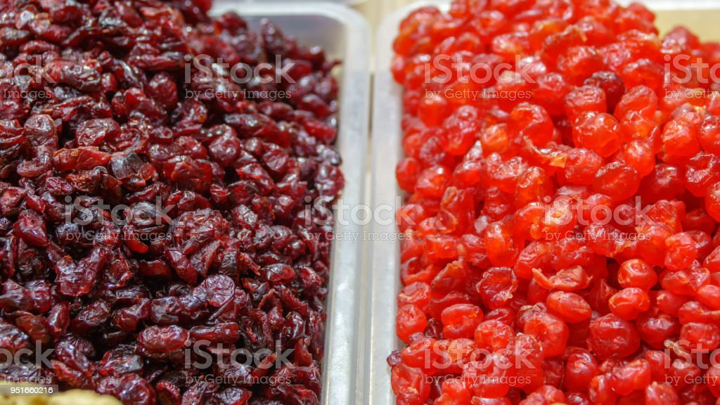 Dried fruits and berries stock photo
