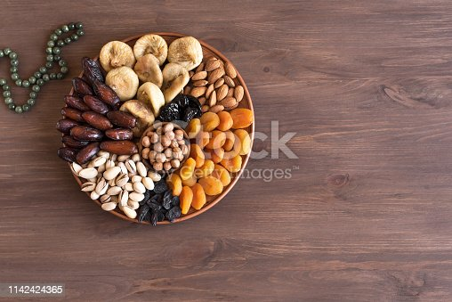 689618578 istock photo Dried Fruits and Nuts on platter 1142424365