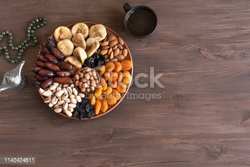689618578 istock photo Dried Fruits and Nuts on platter 1142424511