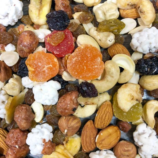 Getrocknete Früchte und Nüsse – Foto