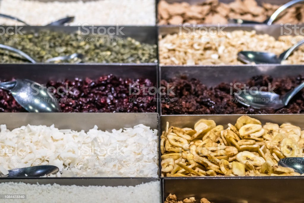 Dried fruits for sale stock photo