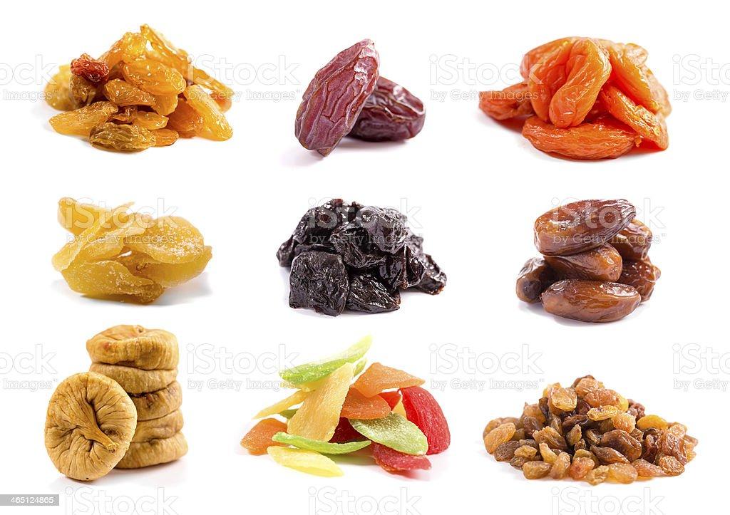 Сушеные фрукты изолированных стоковое фото