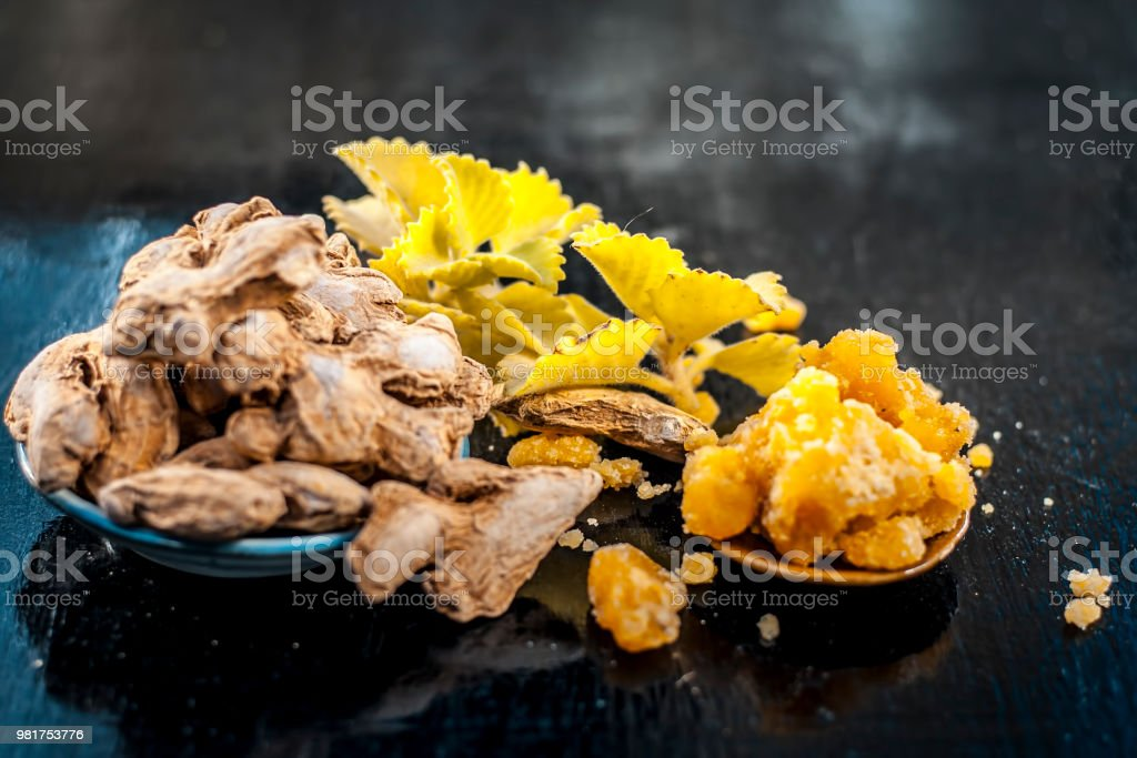 Dried Ginger Or Zingiber Officinale Or Sothsonth With