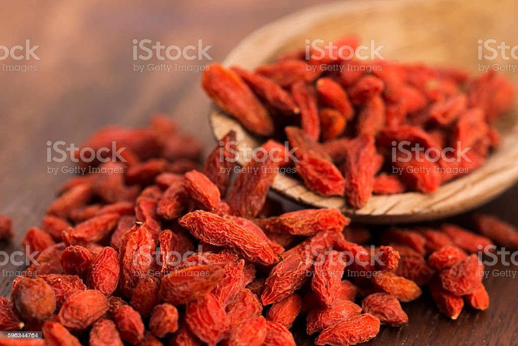 Dried goji berries royalty-free stock photo