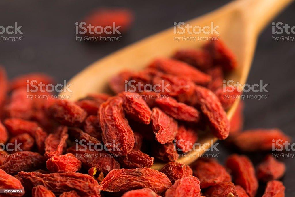 Dried goji berries royalty-free stock photo