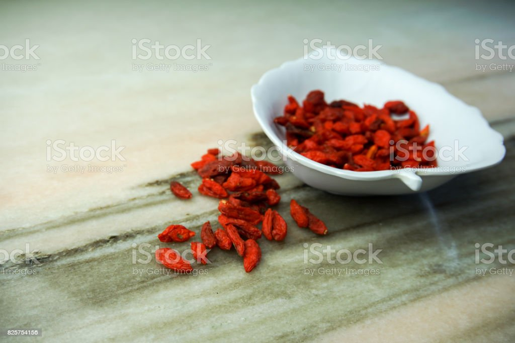 Dried goji. super food stock photo