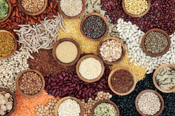 Fondo de alimentos secos - foto de stock