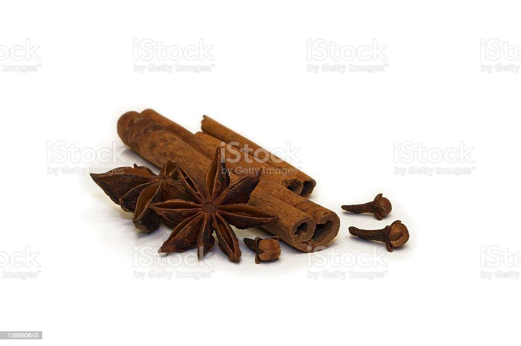 Dried Herbs And Seasonings royalty-free stock photo