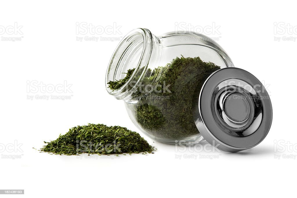 Dried Herbs and Spices: Chervil royalty-free stock photo