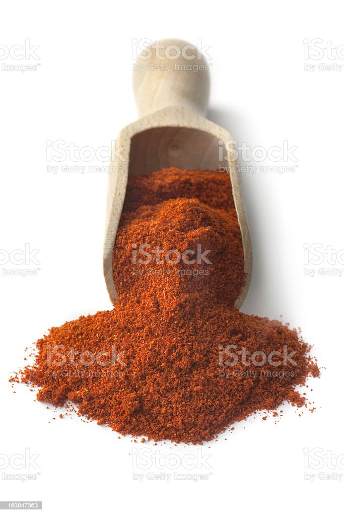 Dried Herbs and Spices: Chili royalty-free stock photo