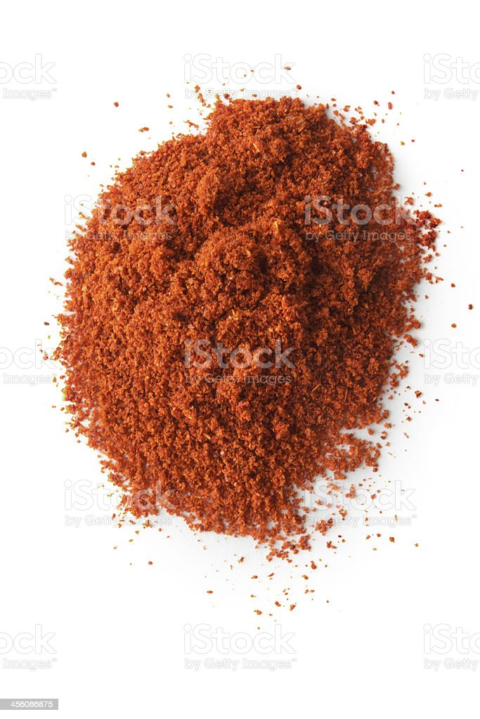 Dried Herbs and Spices: Chili stock photo