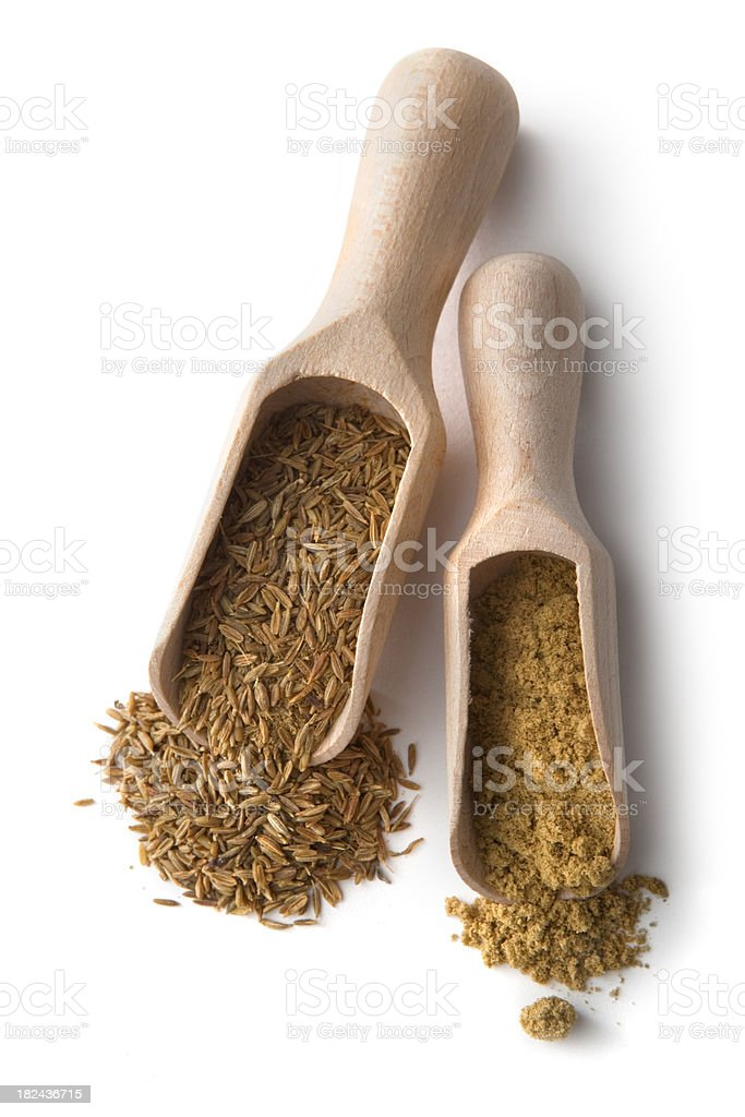 Dried Herbs and Spices: Cumin royalty-free stock photo