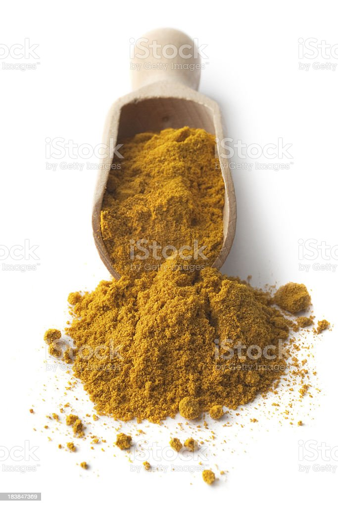 Dried Herbs and Spices: Curry royalty-free stock photo