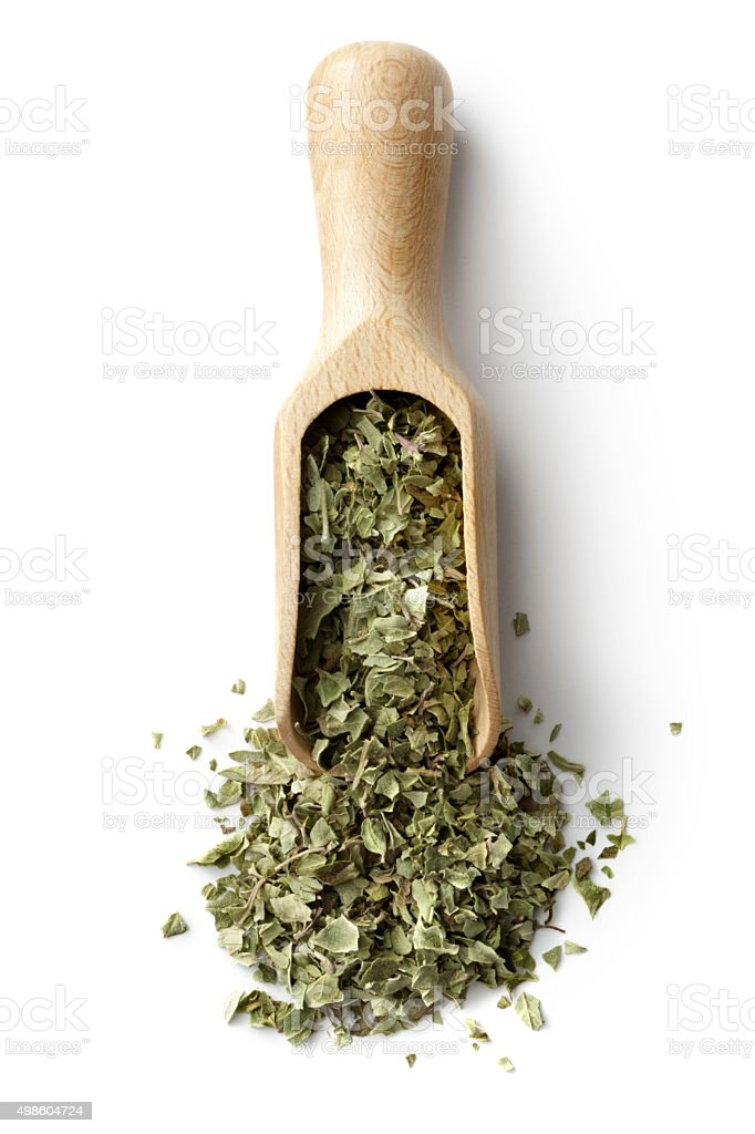 Dried Herbs and Spices: Oregano stock photo