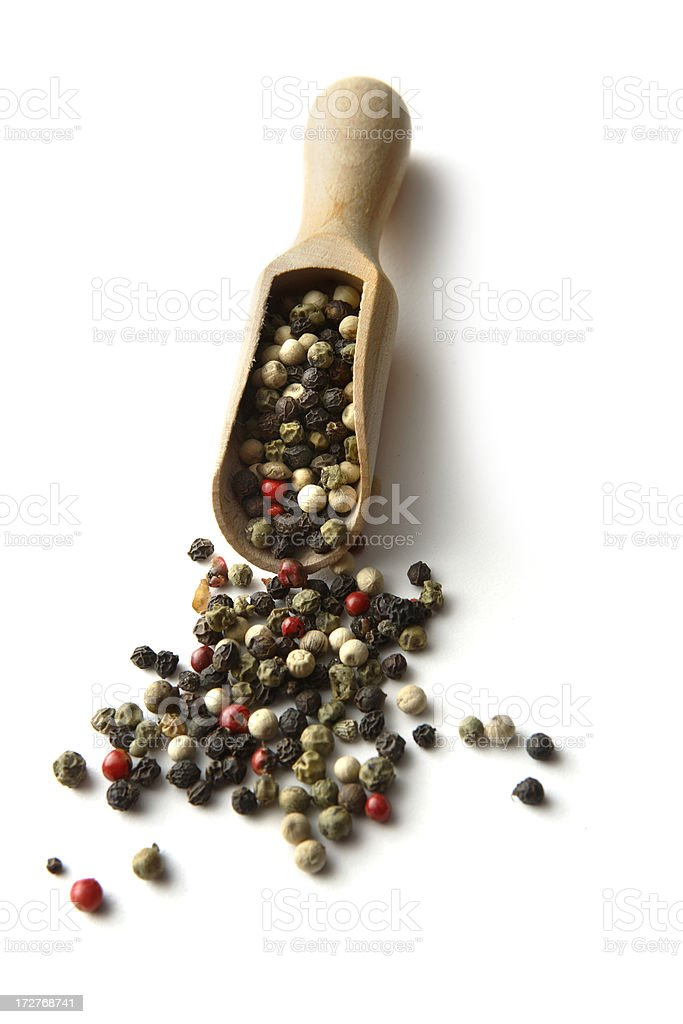 Dried Herbs and Spices: Pepper royalty-free stock photo