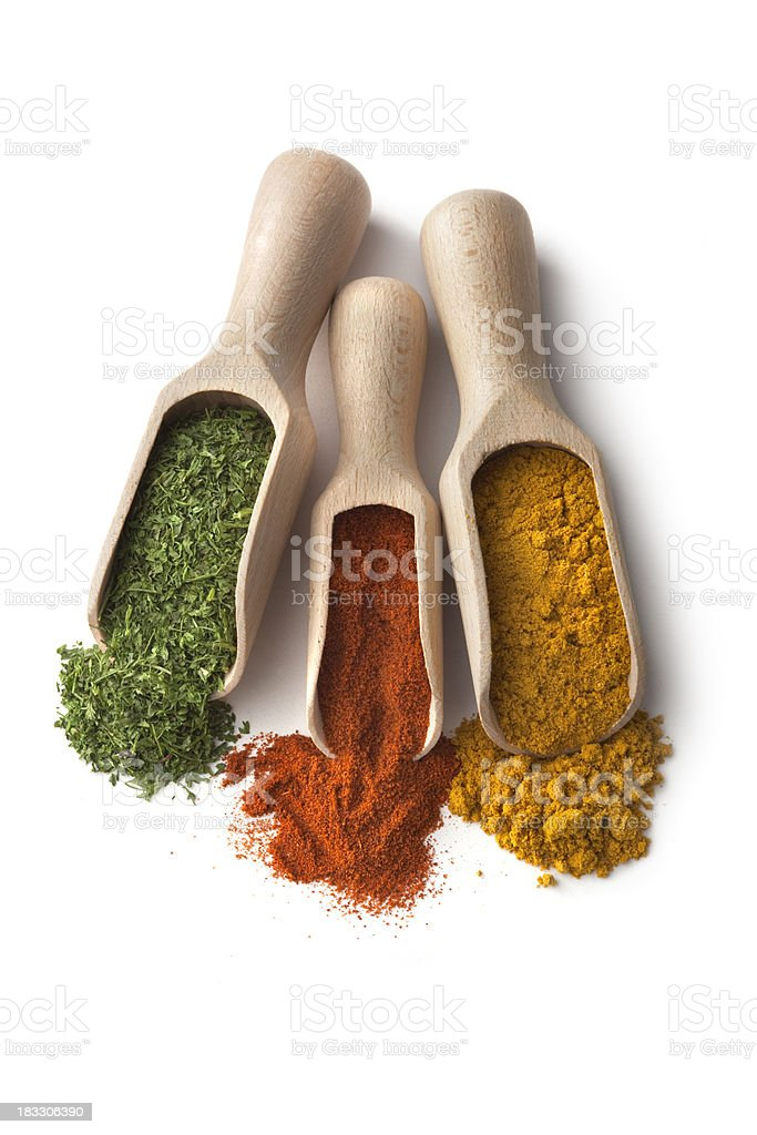 Dried Herbs and Spices: royalty-free stock photo