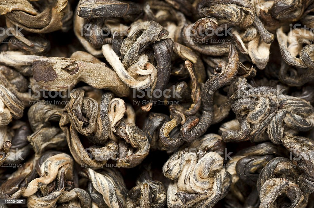 Dried Jasmine Pearls green tea royalty-free stock photo