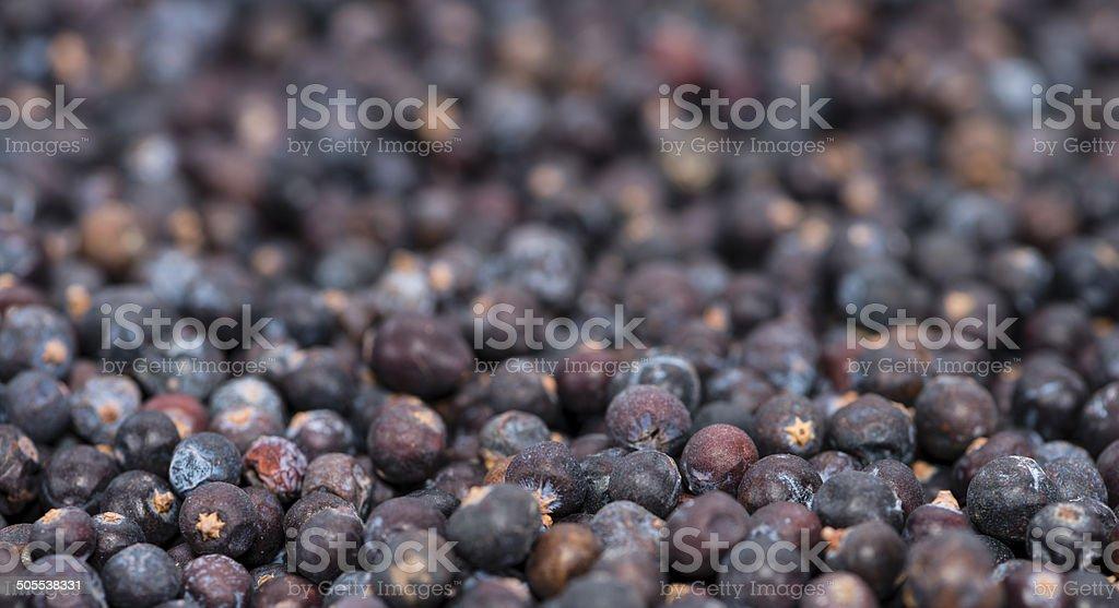 Juniper frutos secos imagen de fondo - foto de stock