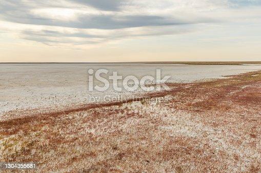 istock dried lake, Kazakhstan 1304355681