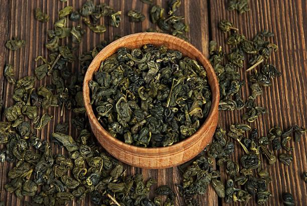 Dried leaves of green tea – Foto