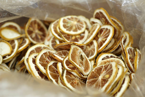 Dried Lemon stock photo