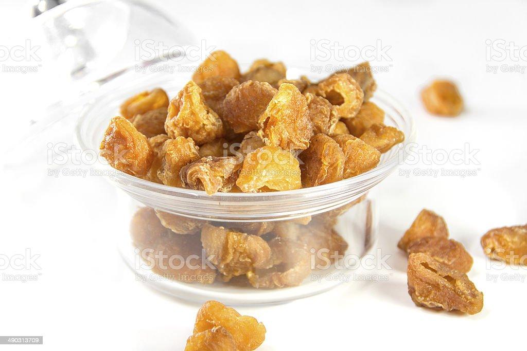 Dried Longan in bolw stock photo