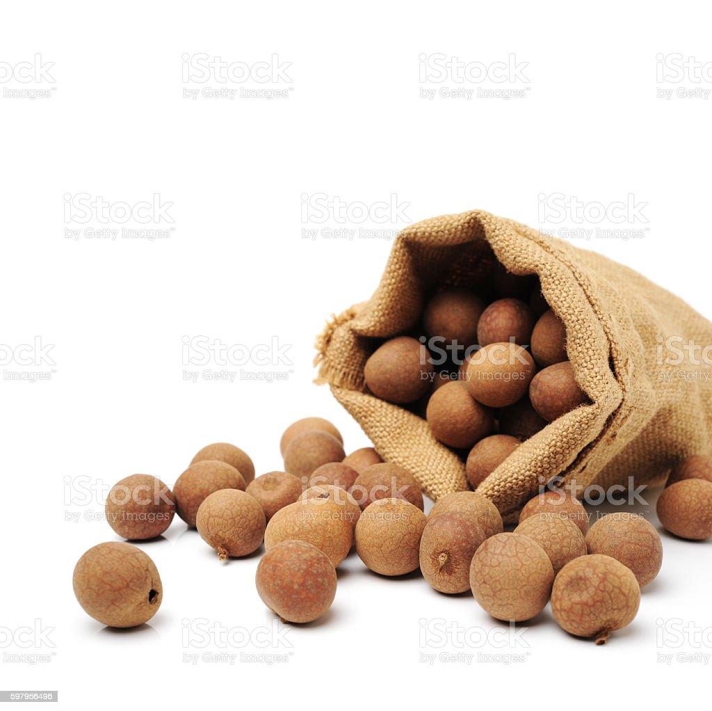 Dried Longans stock photo