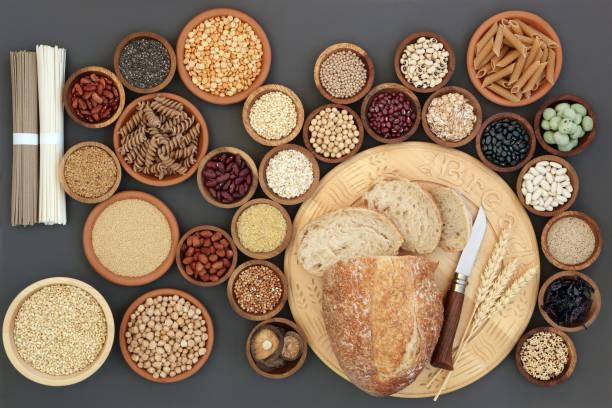 Macrobiótica salud alimentos secos - foto de stock
