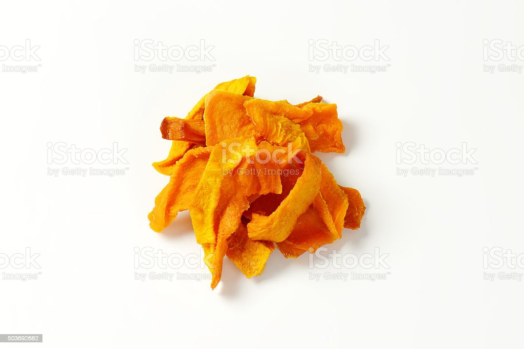 Dried mango slices stock photo