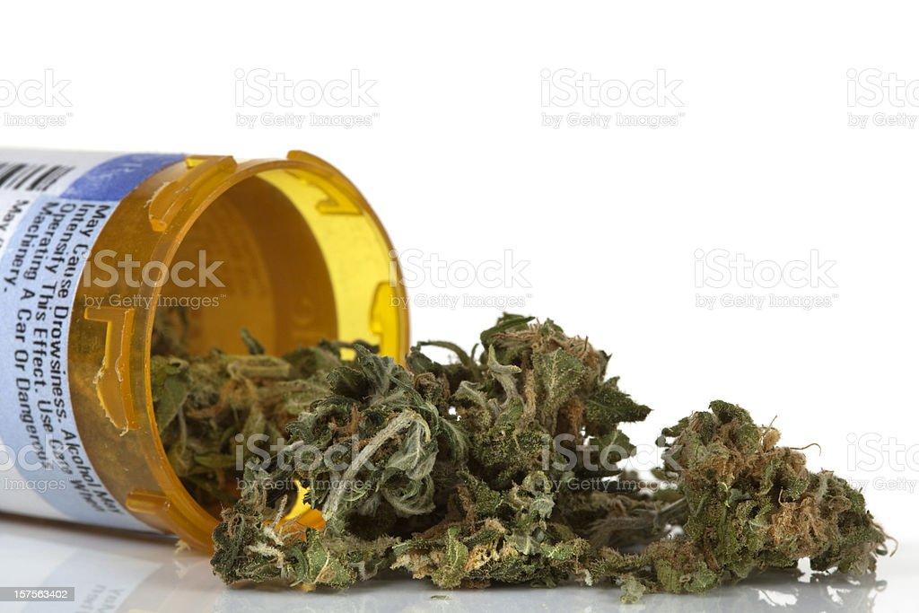 Dried marijuana used for medicinal purposes royalty-free stock photo
