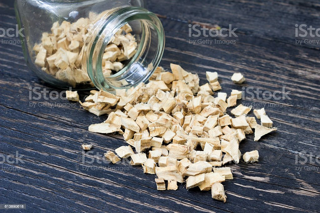 Dried marshmallow root stock photo