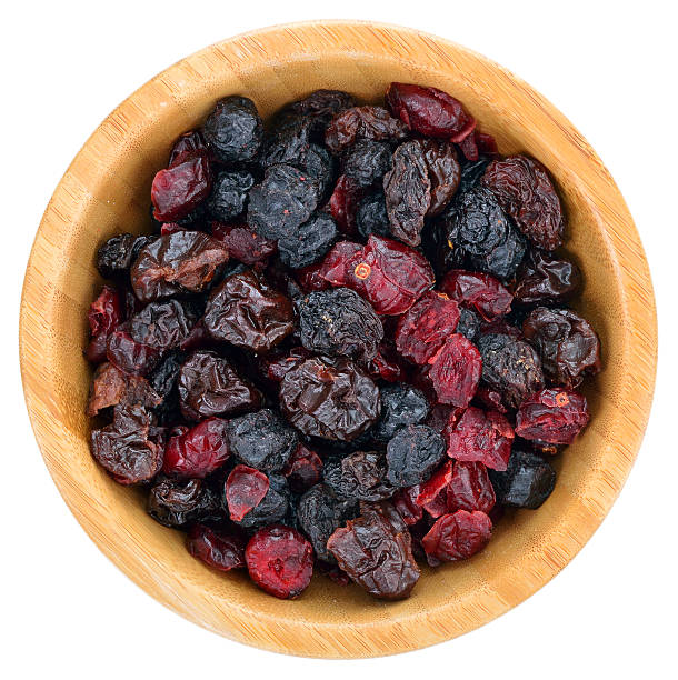 dried mix berries fruits. - dried food stock photos and pictures