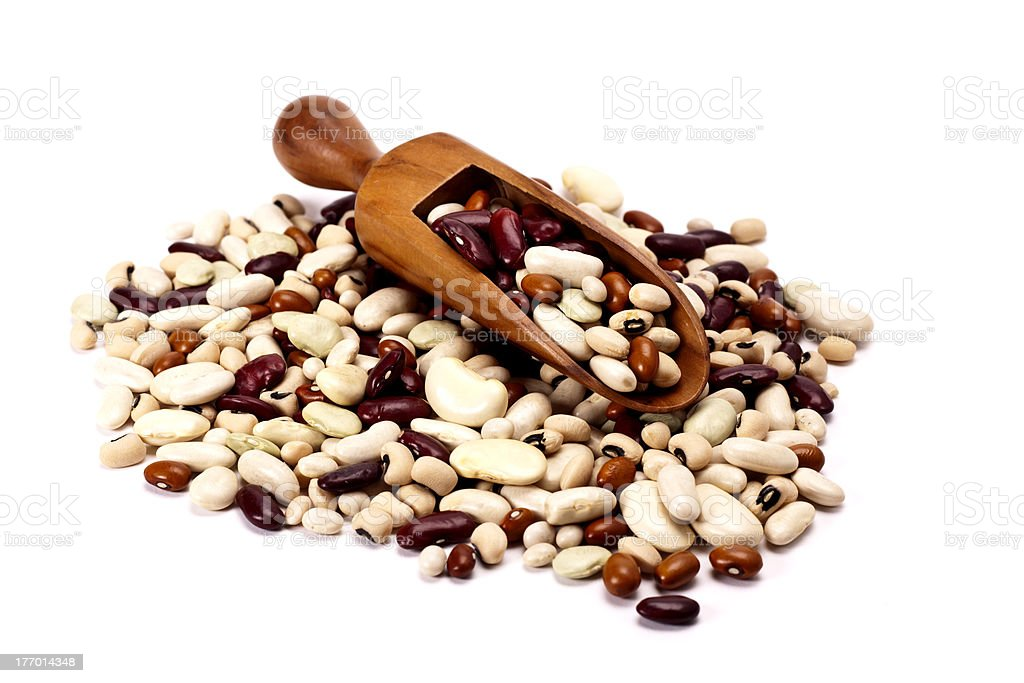 Dried mixed beans. royalty-free stock photo