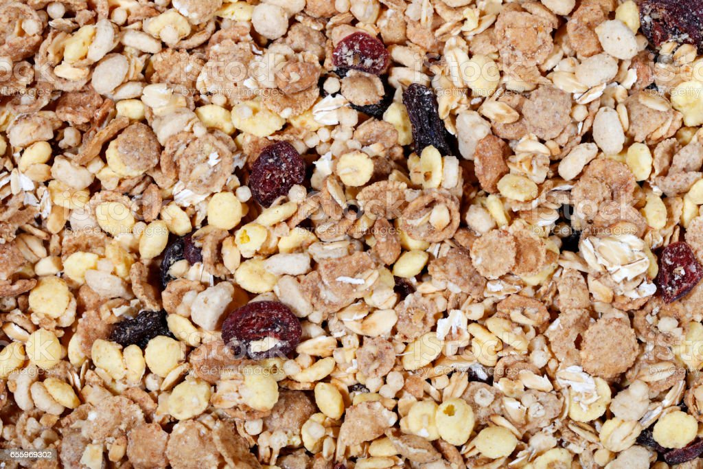 Dried Muesli background - high resolution 50Mpx stock photo