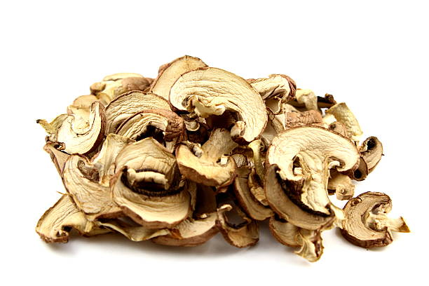 dried mushrooms isolated圖像檔