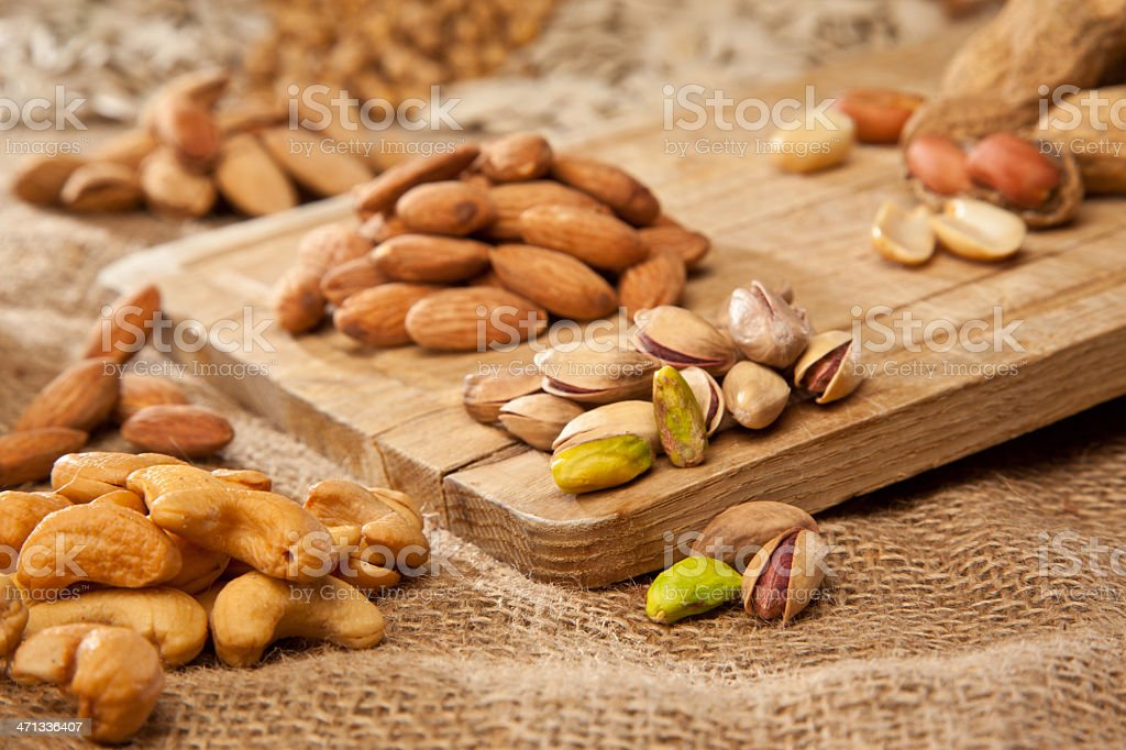 dried nuts stock photo