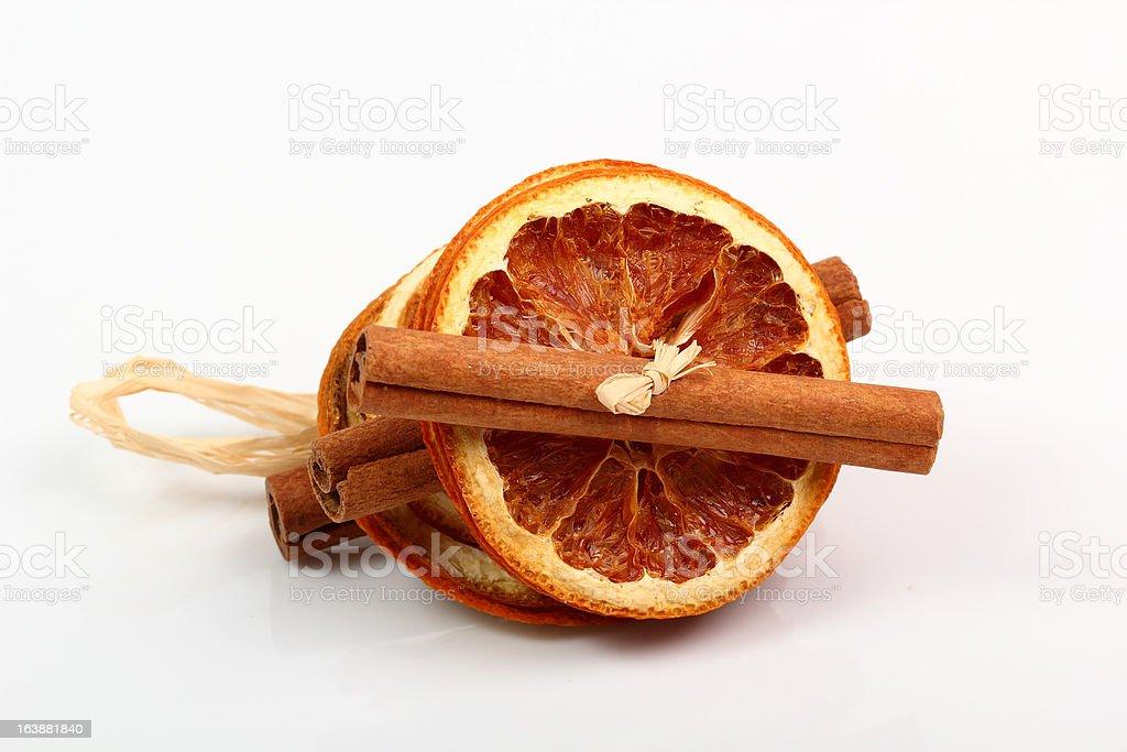 Dried Orange Decorations royalty-free stock photo