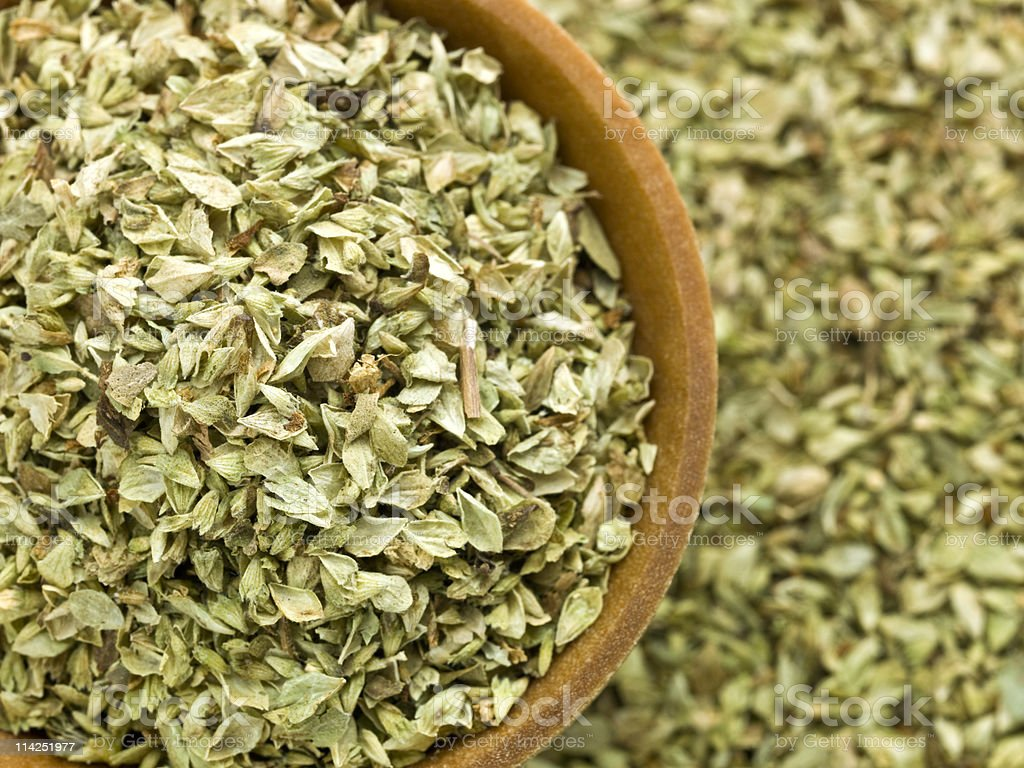 dried oregano stock photo