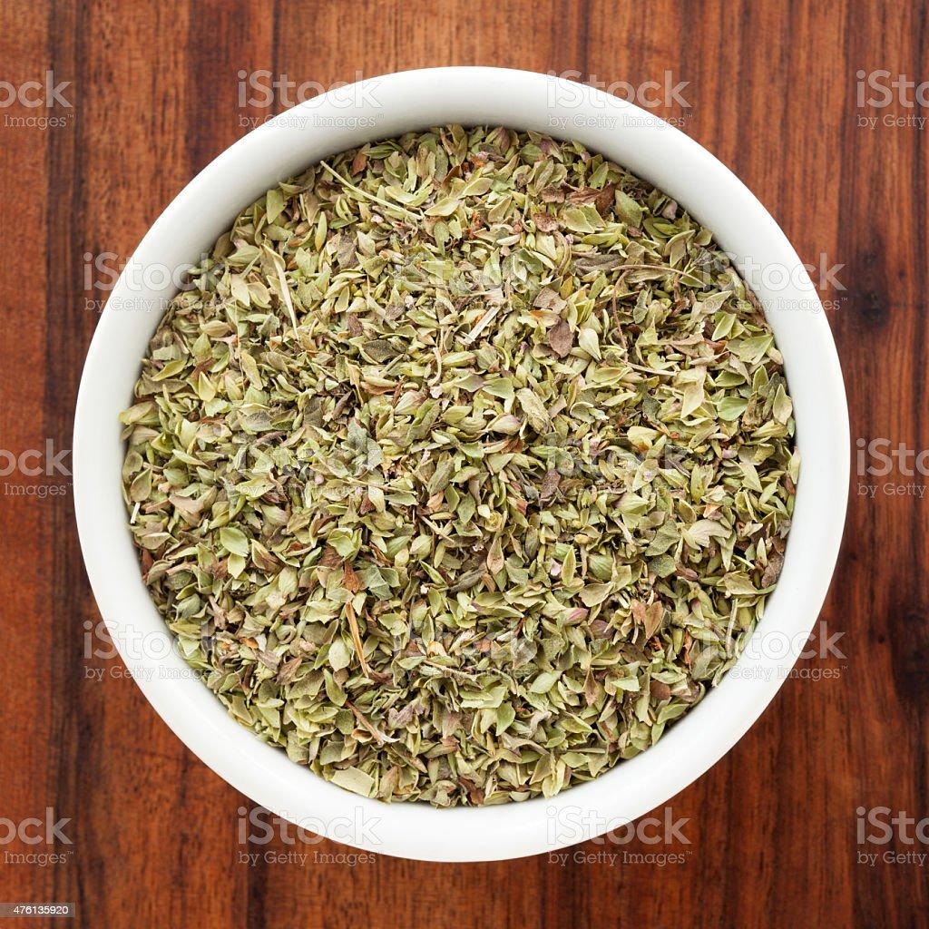 Dried oregano stock photo