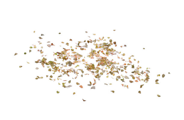 dried oregano spice isolated on white background dried oregano spice isolated on white background oregano stock pictures, royalty-free photos & images